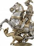 San Giorgio e il drago, Hans Koch, 1600, argento, Schweizerisches National Museum   bd.jpg